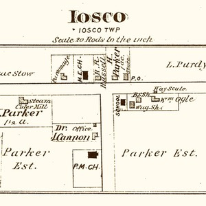 1875 Post Office of Iosco (Parker's Corners)
