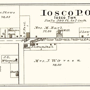 1895 Post Office of Iosco (Parkers Corners)